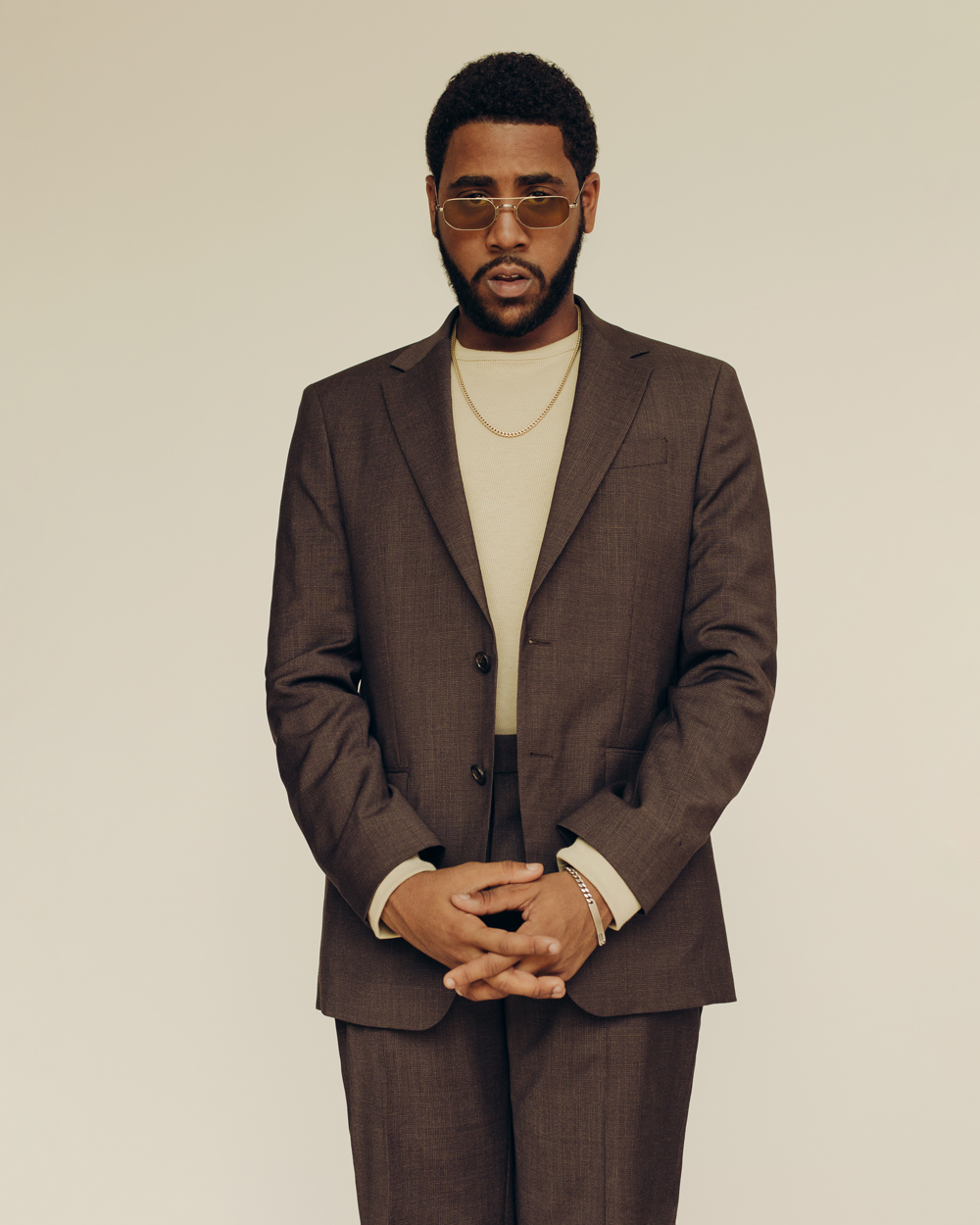 Jharrel Jerome for GQ x Banana Republic